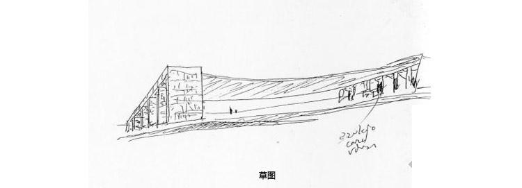 里斯本世界博览会葡萄牙馆由两个独立部分结合而成。其一为南部,实际上是一个大型广场,坐落北侧,南侧由两个大的门廊连接,用各色瓷砖镶嵌而成。两部分中间为曲线型混凝土顶棚,这正是当时流行的遮阳蓬式样。另一部分为一座规则建筑的设计。三层大楼围绕天井建成,天井中有一棵大树。