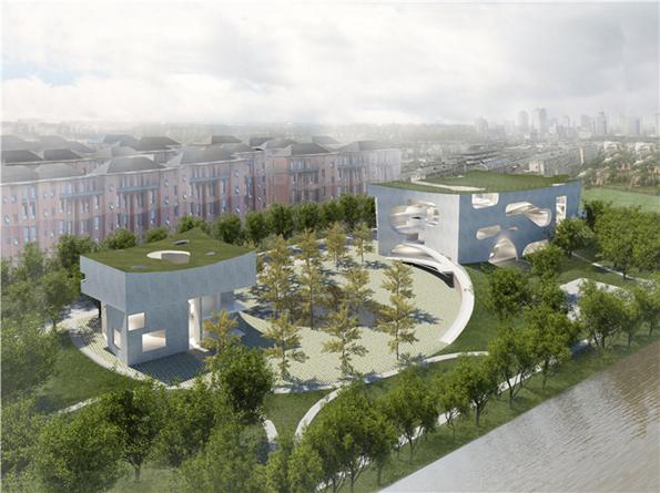 斯蒂文霍尔事务所中粮南桥半岛文体中心与医疗服务站设计